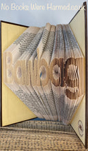 "Load image into Gallery viewer, ""Bawbag"" hand folded into the pages of book : : Offensive Art : : Crude Books"