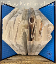 "Load image into Gallery viewer, ""Write"" : : Hand folded, Non cut book art"