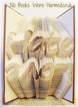 "Load image into Gallery viewer, ""Love Hate"" Topsy Turvy : : Hand folded into the pages of a book"