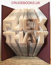 Load image into Gallery viewer, Click to view : : Crude Books by No Books Were Harmed.co.uk : : Hand folded book art insults : : F**K THAT