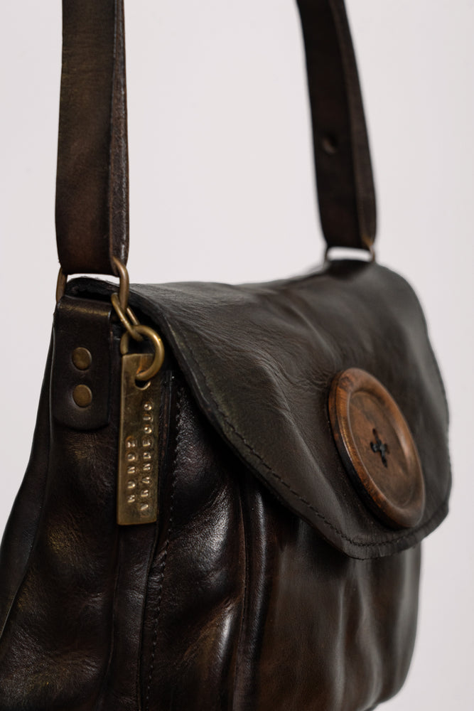 Brown Button Handbag