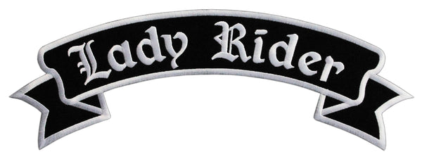 #Backpatch #52 Lady Rider Top Rocker Biker Kutte Rückenaufnäher Back Patch Groß 33,5 x 11,5 cm