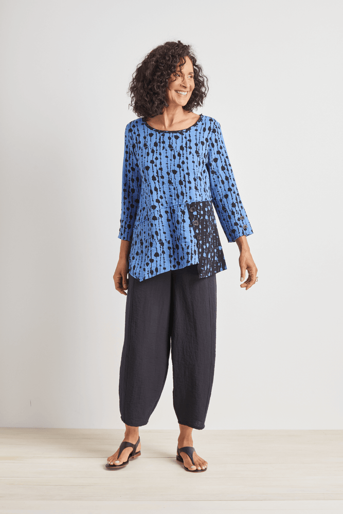 Angled Seam Tunic Top