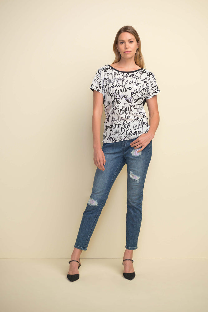Load image into Gallery viewer, Graffiti Print Short Sleeve Top