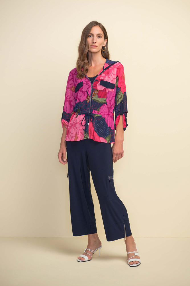Load image into Gallery viewer, Midnight Blue Wide Leg Crop Pants