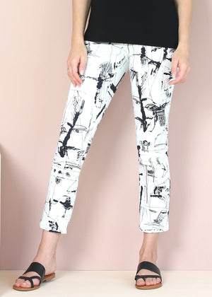 Load image into Gallery viewer, Miro Print Slim Ankle Pant