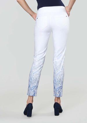 Load image into Gallery viewer, Gradient Paisley Print Slim Ankle Pant