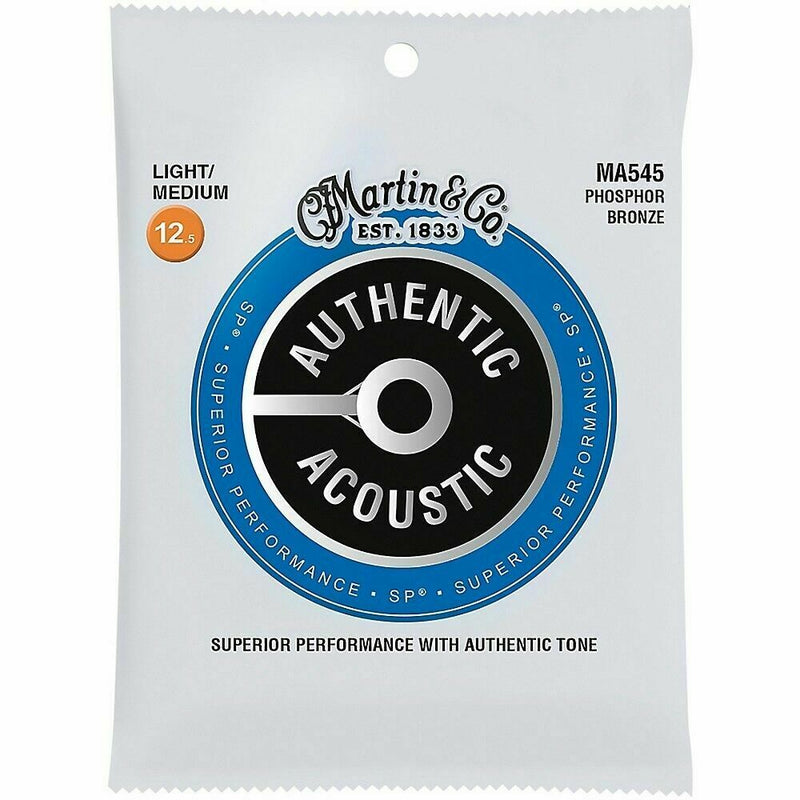 Martin Authentic Acoustic SP Guitar Strings Phosphor Bronze MA545 .0125-.055