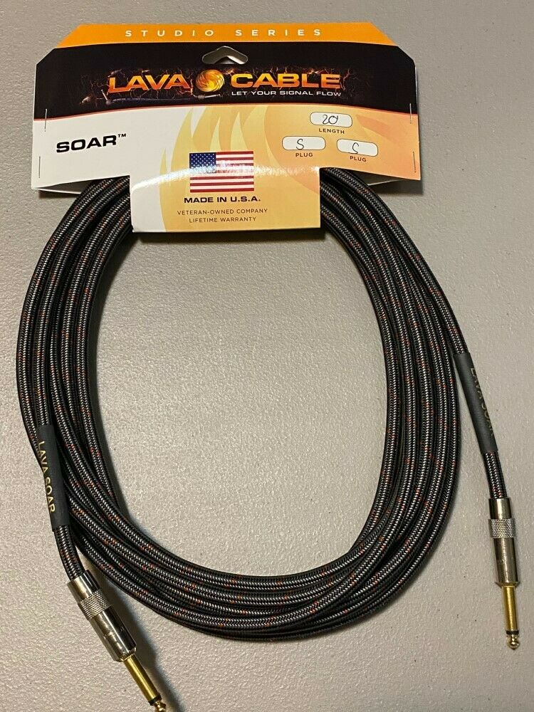 Lava Cable Soar Studio Series Instrument Cable 20' Straight to Straight