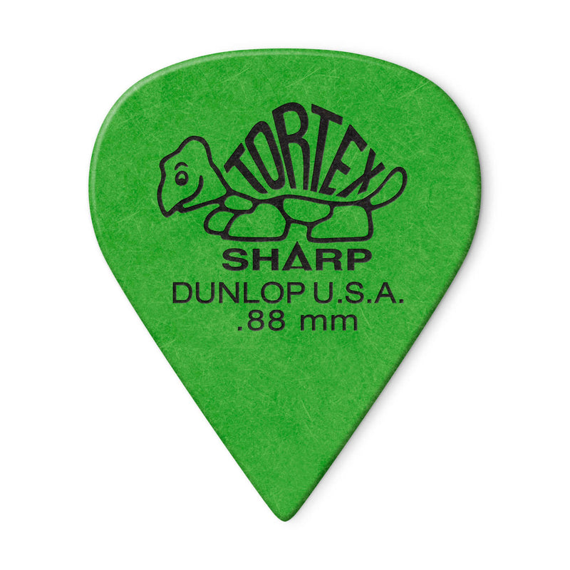 Dunlop Tortex Sharp Flatpick .88 mm - Pack of 6