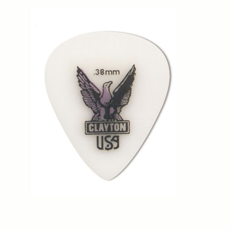 6-Pack of Clayton Acetal Standard Guitar Picks .38mm