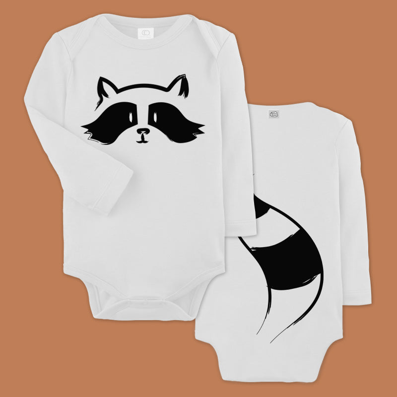 Raccoon baby bodysuit - Long sleeves