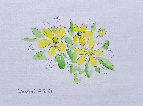 Buttercup painting by Christina Deubel