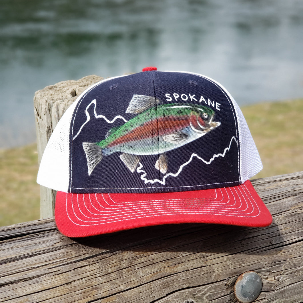 Spokane River - Redband Trout Hand Painted Hat