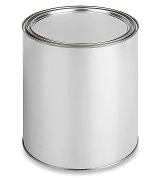 Empty Metal Quart Can with Lid
