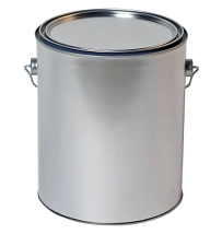 Empty Metal Gallon Can with Lid