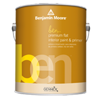 ben® Waterborne Interior Paint- Flat W625