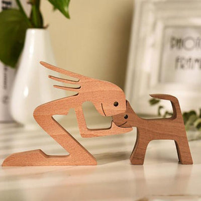 🐕😺Pet lover gifts |Wood sculpture |Table ornaments |Carved wood decor | Pet memorial | For puppies | Mother's Day Gift