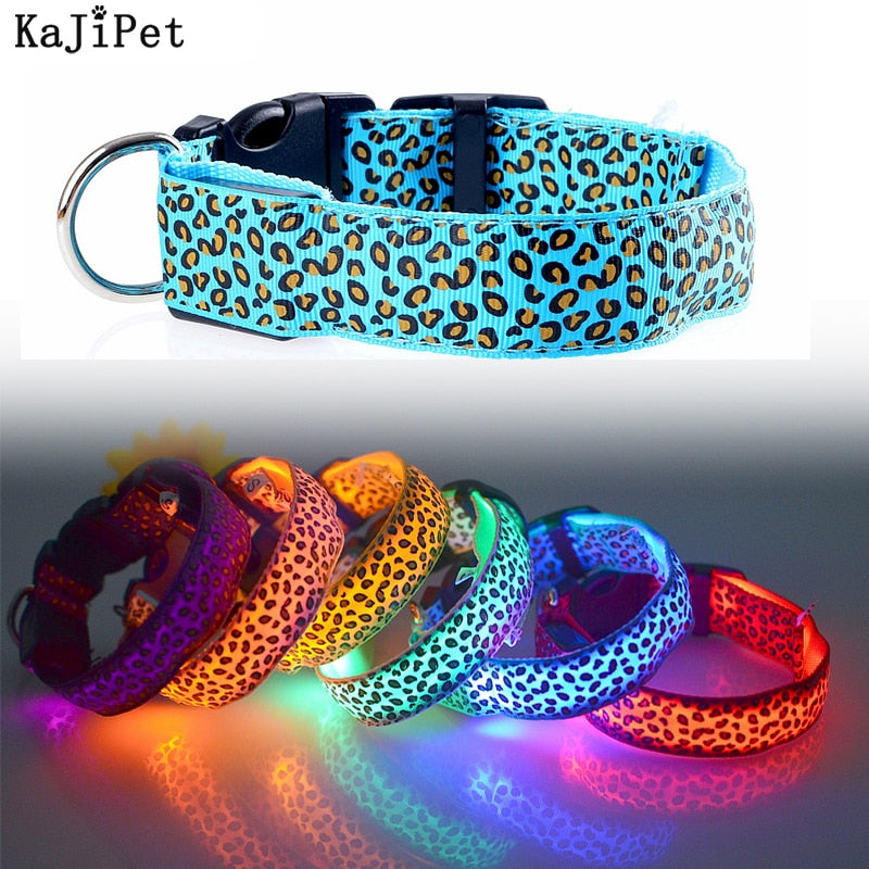 Leopard LED Collar Luminous and Adjustable