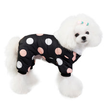 Load image into Gallery viewer, Winter Dog Hoodie with Big Polka Dot