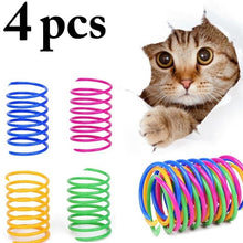 Load image into Gallery viewer, 8PCS Cat Colorful Spring Toy