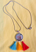 Load image into Gallery viewer, Be Happy Tassel Pendant Necklace