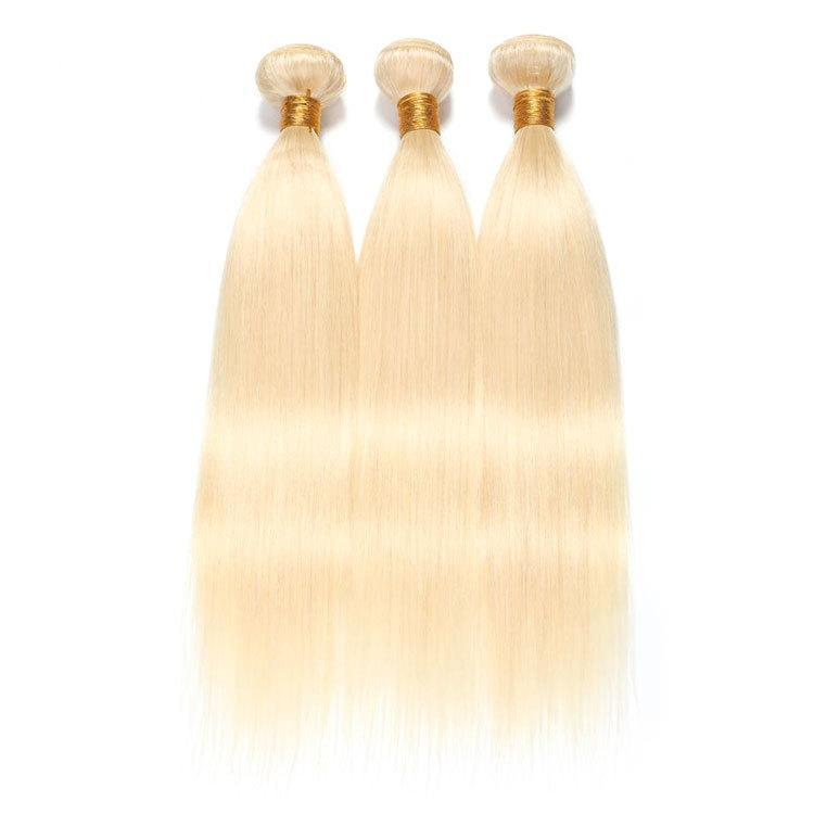 Virgin Hair 100% Human Remy Hair Straight (#613 Bleach Blonde)