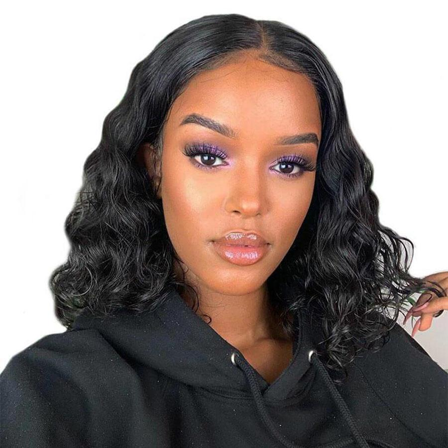 Pre-Plucked Virgin Hair Lace Front Bob Wig Body Wave