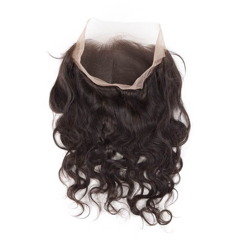 10 – 20 Inch 360 Lace Frontal Body Wave #1B Natural Black