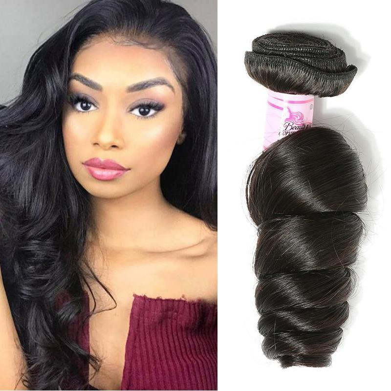 Brazilian Virgin Hair 100% Human Hair Loose Wave (#1B Natural Black)