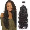 Brazilian Virgin Hair 100% Human Hair Natural Wave (#1B Natural Black)
