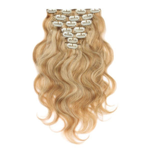 16 – 26 Inch Clip In Remy Hair Extensions Body Wave (#27/#613)
