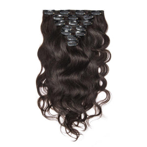 16 – 26 Inch Clip In Remy Hair Extensions Body Wave (#2 Dark Brown)