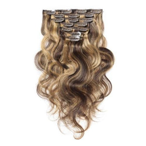 16 – 26 Inch Clip In Remy Hair Extensions Body Wave (#4/#27)