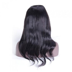 Pre-Plucked Full Lace Wig Virgin Hair Straight #1B