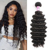 Indian Virgin Hair 100% Human Hair Deep Curly (#1B Natural Black)