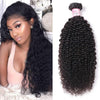 Indian Virgin Hair 100% Human Hair Kinky Curly (#1B Natural Black)