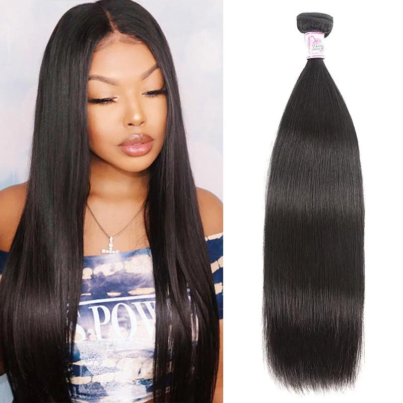 Indian Virgin Hair 100% Human Hair Straight (#1B Natural Black)