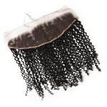 10 – 20 Inch Virgin Hair Kinky Curly 13 x 4 Lace Frontal (#1B Natural Black)