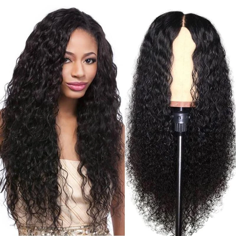 Pre-Plucked Lace Front Wig Virgin Hair Water Wave