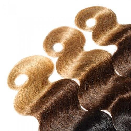 16 – 26 Inch Ombre Hair Human Remy Hair Extensions Body Wave (#1B/#4/#27)