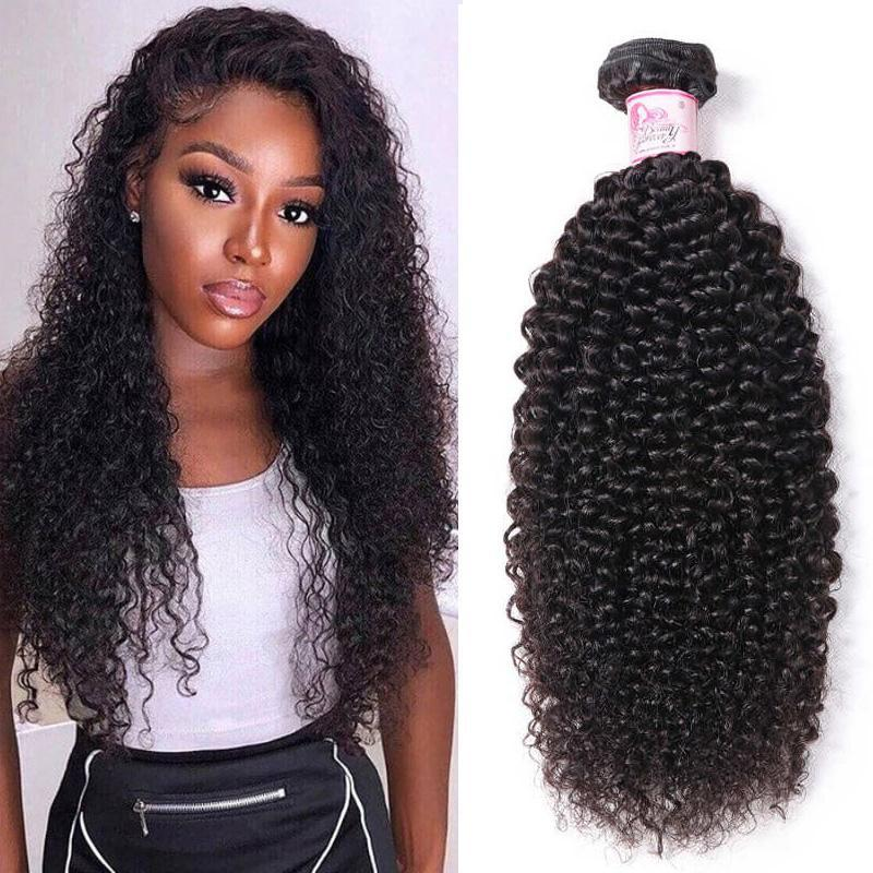 Peruvian Virgin Hair 100% Human Hair Kinky Curly (#1B Natural Black)
