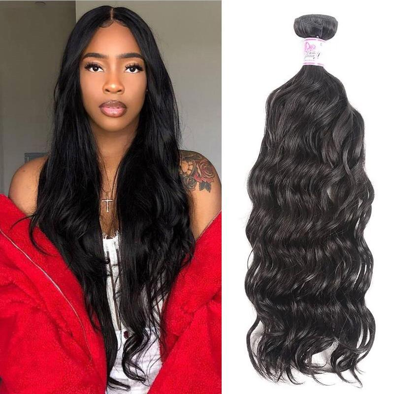 Peruvian Virgin Hair 100% Human Hair Natural Wave (#1B Natural Black)