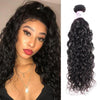 Peruvian Virgin Hair 100% Human Hair Water Wave (#1B Natural Black)