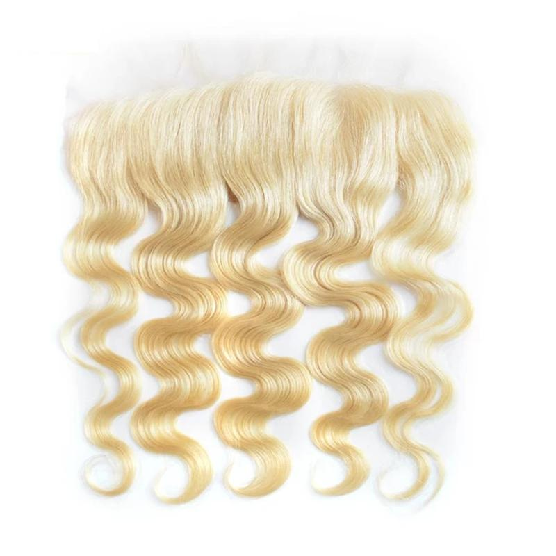 Virgin Hair Body Wave Transparent Lace Frontal (#613 Bleach Blonde)