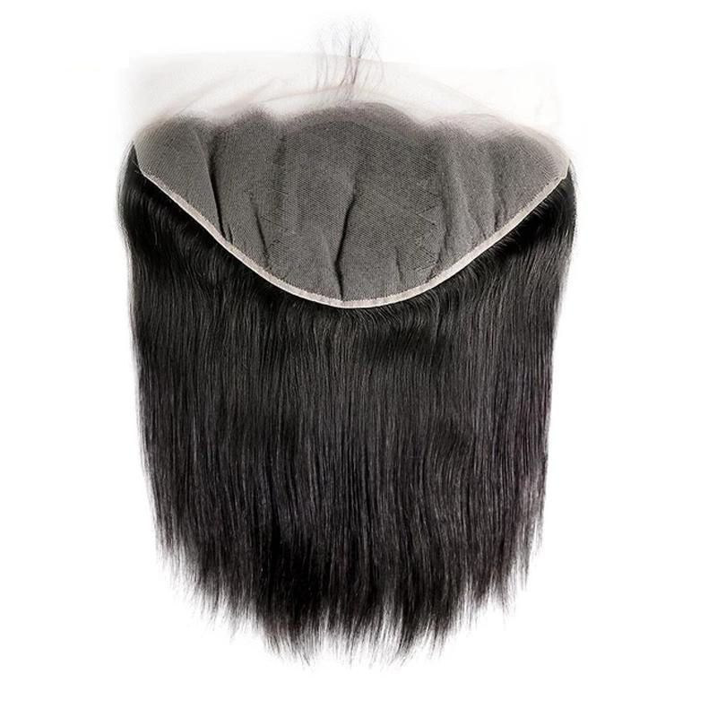 Virgin Hair Straight Transparent Lace Frontal (#1B Natural Black)