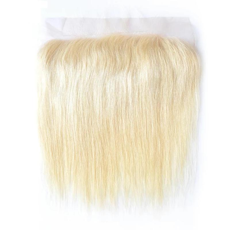Virgin Hair Straight Transparent Lace Frontal (#613 Bleach Blonde)