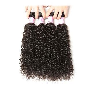 10A Virgin Hair 4 Bundles with 13 x 4 Lace Frontal Curly Wave Hair