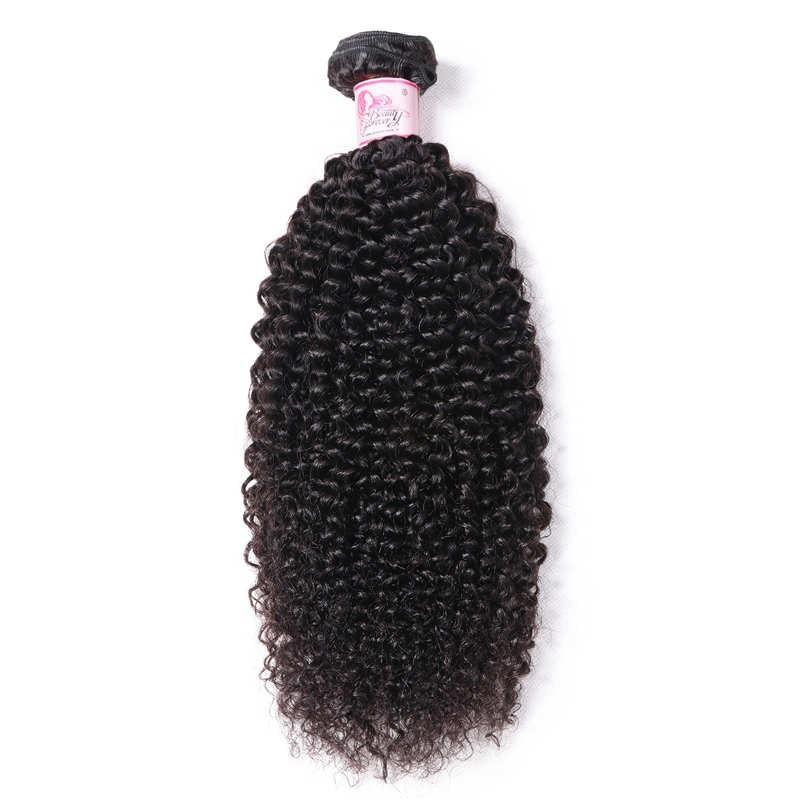 10A Peruvian Virgin Hair 100% Human Hair Kinky Curly (#1B Natural Black)