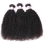10A Virgin Hair 3 Bundles with 4 x 4 Lace Closure Kinky Curly Hair